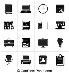 Black Business and office Icons