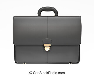 Black business briefcase isolated