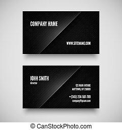 Black business card template vector illustration