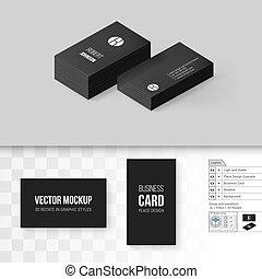 Branding Mock Up - Black Business Cards Template. Branding ...