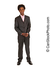 Black business man standing