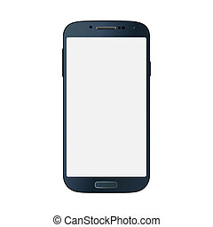 Black business mobile phone style isolated on white background