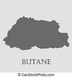 Black Butane map - vector illustration - Black Butane map on...