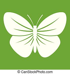 Black butterfly icon green