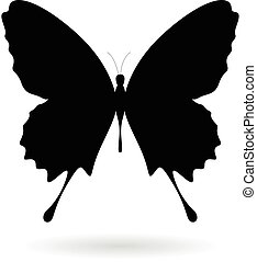 Black Butterfly Silhouette Illustration