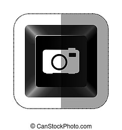 black button camera icon