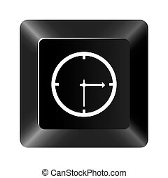 black button clock icon
