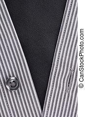 Black Button - Close-up photograph of a black button on a...