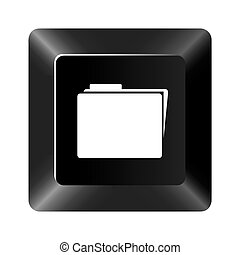 black button file icon