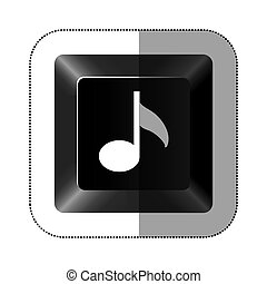 black button music icon