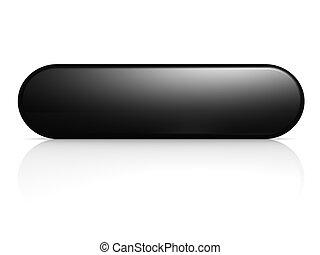 Black button - Hi-res original 3d rendered computer...