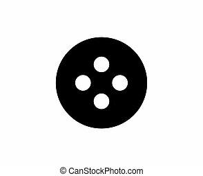 Black button sign