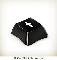Black button, vector