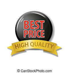 Black button with words 'Best Price - High Quality'.