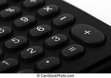 black buttons on calculator keypad
