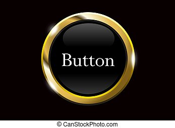 Black buttons with metallic
