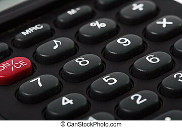 black calculator, macro shot