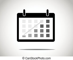 black calendar with everyday blocks colored to show progress