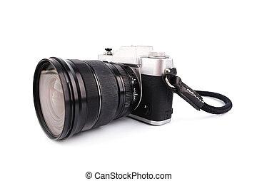 Black Camera isolated on white background