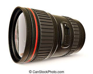 camera lens - black camera lens isolated on white background