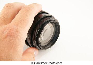 camera lens isolated on white background
