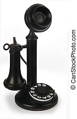 candlestick phone on white