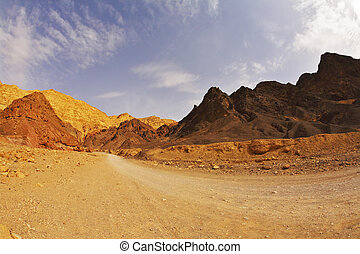 Black canyon in mountains