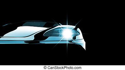Black car