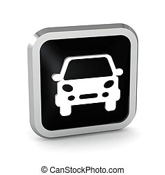 black car button icon on a white background