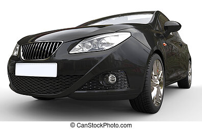 Black Car Headlights