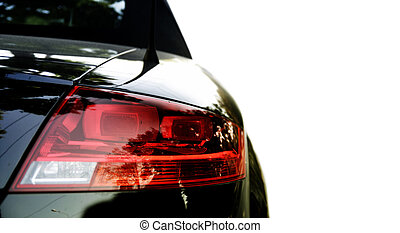 Black car isolated on white