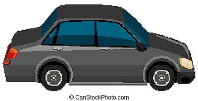 Black car on white background