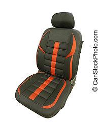 Black car seat.
