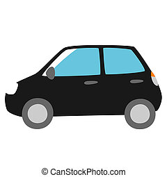 black car, side view