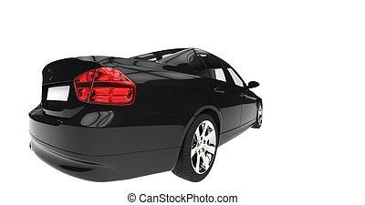 Black Car Taillight
