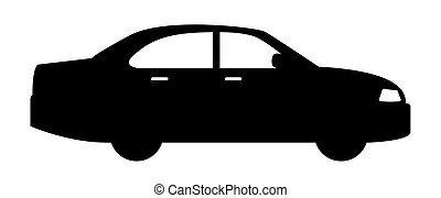black car vehicle icon