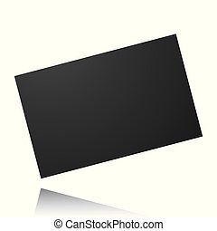 Black card isolated on a white background