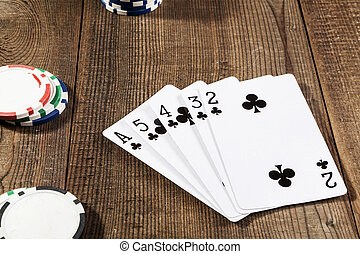 Black Cards On Table