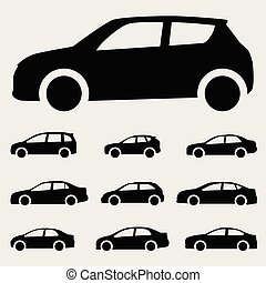 cars icon vector set