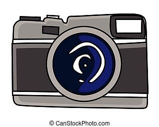 black cartoon dslr camera