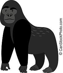 Black cartoon gorilla icon