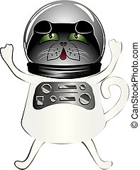 Black cat astronaut