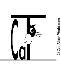 black cat - black smal cat is afraid of punishment