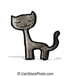 black cat cartoon character