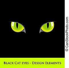 Black cat eyes