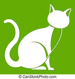 Black cat icon green