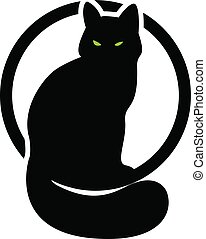 black cat in the cyrcle. second variant.eps