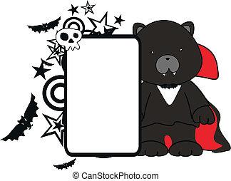 black cat kid vampire halloween cos