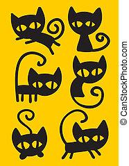 Black cat set