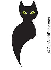 cat - Black cat silhouette